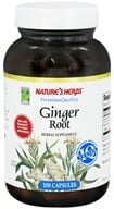 Image of Nature's Herbs - Ginger Root - 100 Capsules
