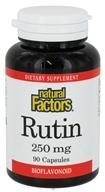 Natural Factors - Rutin 250 mg. - 90 Capsules - $8.97