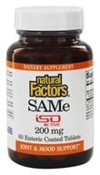 Natural Factors - SAMe iSO Active 200 mg. - 60 Tablets, from category: Nutritional Supplements