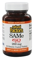 Natural Factors - SAMe iSO Active 200 mg. - 60 Tablets