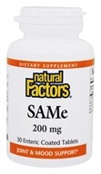 Natural Factors - SAMe iSO Active 200 mg. - 30 Tablets