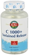 Kal - C 1000+ Sustained Release - 100 Tablets by Kal