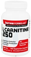 Jarrow Formulas - L-Carnitine 250 mg. - 100 Vegetarian Capsules, from category: Nutritional Supplements