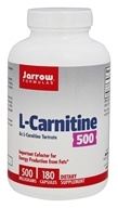 Image of Jarrow Formulas - L-Carnitine 500 mg. - 180 Vegetarian Capsules