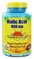 Nature's Life - Malic Acid Mineral Chelating Agent 800 mg. - 100 Capsules, from category: Nutritional Supplements