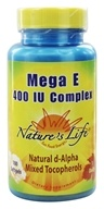 Nature's Life - Mega E Complex 400 IU - 100 Softgels - $24.39