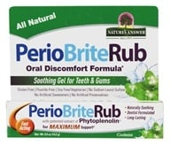 Nature's Answer - PerioRub Soothing Gel For Natural Relief From Tooth & Gum Discomfort - 0.5 oz.