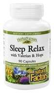 Natural Factors - Sleep Relax Formula - 90 Capsules (068958046556)
