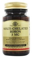 Solgar - Multi-Chelated Boron 3 mg. - 100 Vegetarian Capsules, from category: Vitamins & Minerals