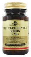 Solgar - Multi-Chelated Boron 3 mg. - 100 Vegetarian Capsules (033984017788)