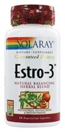 Solaray - Guaranteed Potency Estro-3 Natural Balancing Herbal Blend - 60 Vegetarian Capsules