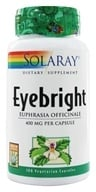 Solaray - Eyebright 400 mg. - 100 Vegetarian Capsules (076280012552)