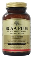 Image of Solgar - BCAA Plus (Branched Chain Aminos) - 100 Vegetarian Capsules