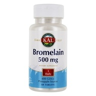 Kal - Bromelain 500 mg. - 60 Tablets by Kal
