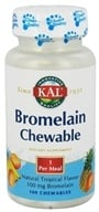 Kal - Bromelain Chewable Natural Tropical Flavor 100 mg. - 100 Chewable Tablets CLEARANCED PRICED - $4.79