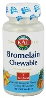 Kal - Bromelain Chewable Natural Tropical Flavor 100 mg. - 100 Chewable Tablets CLEARANCED PRICED