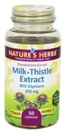 Image of Nature's Herbs - Milk Thistle-Power - 50 Capsules