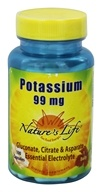 Nature's Life - Potassium 99 mg. - 100 Capsules - $4.85
