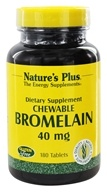 Image of Nature's Plus - Chewable Bromelain (600 GDU/gram) 40 mg. - 180 Tablets