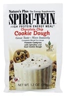 Image of Nature's Plus - Spiru-Tein High Protein Energy Meal Chocolate Chip Cookie Dough - 1 Packet