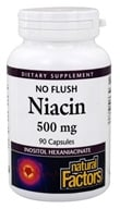 Natural Factors - No Flush Niacin 500 mg. - 90 Capsules
