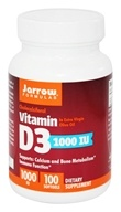 Image of Jarrow Formulas - Vitamin D3 Cholecalciferol 1000 IU - 100 Softgels