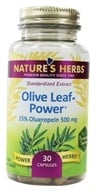 Image of Nature's Herbs - Olive Leaf-Extract - 30 Capsules
