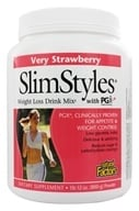Natural Factors - SlimStyles Weight Loss Drink Mix with PGX Very Strawberry - 28 oz. by Natural Factors