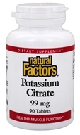Natural Factors - Potassium Citrate 99 mg. - 90 Tablets by Natural Factors