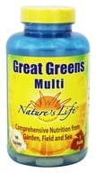 Nature's Life - Great Greens Multi - 90 Tablets Formerly Vitamin/Mineral - $14.56