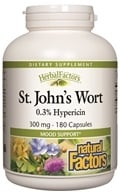 Natural Factors - Saint John's Wort Extract with Hypericin 300 mg. - 180 Capsules
