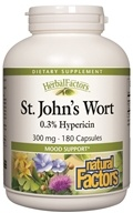 Image of Natural Factors - Saint John's Wort Extract with Hypericin 300 mg. - 180 Capsules