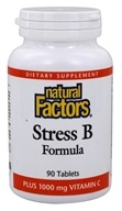 Natural Factors - Stress B Formula Plus 1000 mg Vitamin C - 90 Tablets (068958011318)