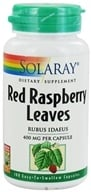 Image of Solaray - Red Raspberry Leaves 400 mg. - 100 Capsules