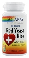 Image of Solaray - Red Yeast Rice 600 mg. - 90 Vegetarian Capsules