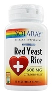 Solaray - Red Yeast Rice 600 mg. - 45 Vegetarian Capsules by Solaray