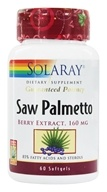 Image of Solaray - Guaranteed Potency Saw Palmetto Berry Extract 160 mg. - 60 Softgels