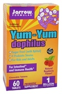 Image of Jarrow Formulas - Yum-Yum Dophilus Sugar Free Raspberry - 60 Chewable Tablets