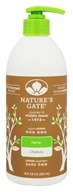 Nature's Gate - Hemp Moisturizing Lotion for Dry Dehydrated Skin - 18 oz. (078347041758)