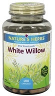 Image of Nature's Herbs - White Willow Bark - 100 Capsules