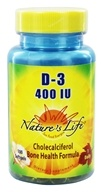 Nature's Life - Vitamin D3 400 IU - 100 Softgels