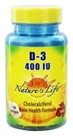 Nature's Life - Vitamin D-3 400 IU - 100 Softgels - $3.16