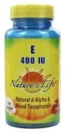 Nature's Life - Vitamin E 400 IU - 100 Softgels, from category: Vitamins & Minerals