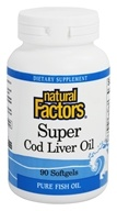 Image of Natural Factors - Super Cod Liver Oil - 90 Softgels