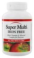 Natural Factors - Super Multi Iron Free - 90 Tablets by Natural Factors