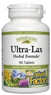 Natural Factors - Ultra-Lax Herbal Laxative - 90 Tablets - $6.89