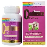Solaray - Continence With Flowtrol Guaranteed Potency Butterbur - 60 Capsules by Solaray
