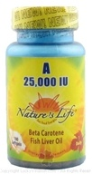 Image of Nature's Life - Vitamin A 25000 IU - 100 Softgels CLEARANCE PRICED