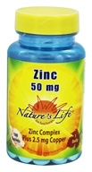 Nature's Life - Zinc 50 mg. - 100 Tablets, from category: Vitamins & Minerals