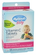 Hylands - Baby Vitamin C Tablets Natural Lemon Flavor - 125 Tablets (354973750623)